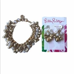 Lilly Pulitzer Pearl and Gold Set